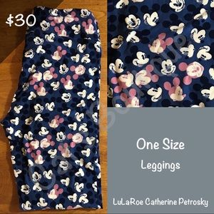 LuLaRoe Pants - One Size LuLaRoe Collection for Disney Leggings!